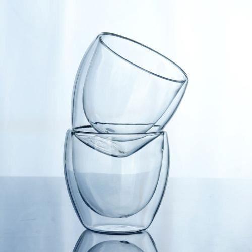 Tasses à thé,Tasse en verre à Double paroi, 150-250-350-450ML, transparente, faite à la main, résistante à la chaleur, - Type 150ml