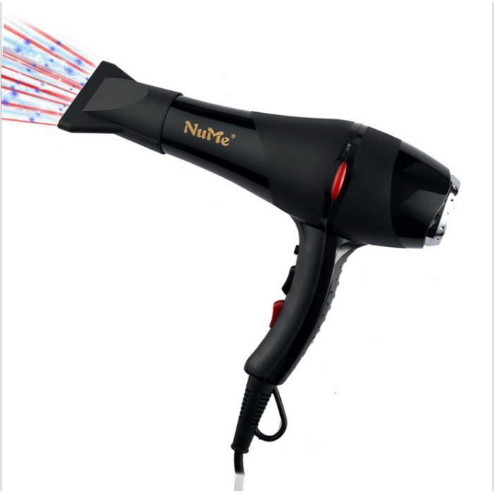 2000W haute puissance sèche-cheveux maison salon de coiffure professionnel avec deux bouches de vent EU bouchon