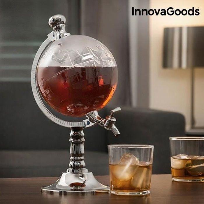 Distributeur de Boissons en forme de globe avec entonnoir - Distributeur alcool decoration originale