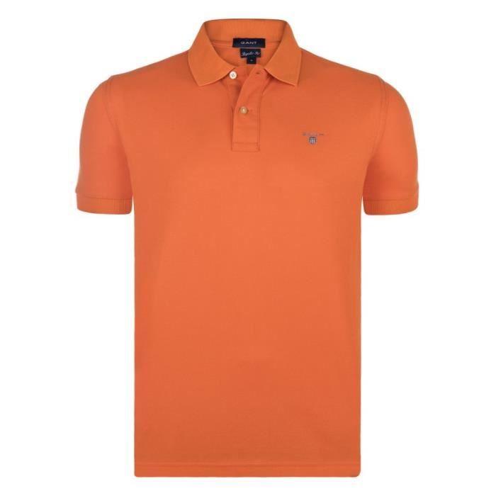 Gant Homme Polo Manche Courte orange