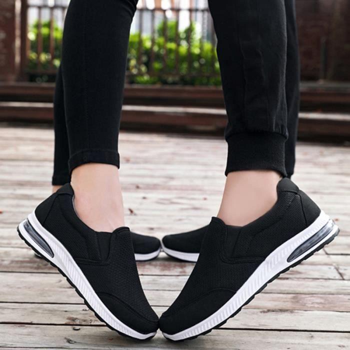 Chaussures de loisirs de sport respirantes de course en maille confortables de pour femmes (noir, taille 37) BASKET