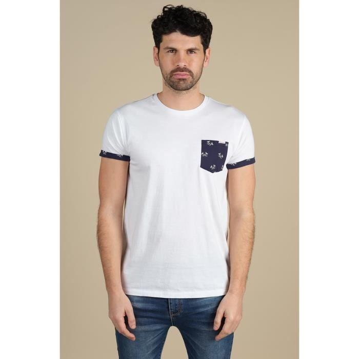DEELUXE T-shirt avec détails à imprimé floral OASIS White