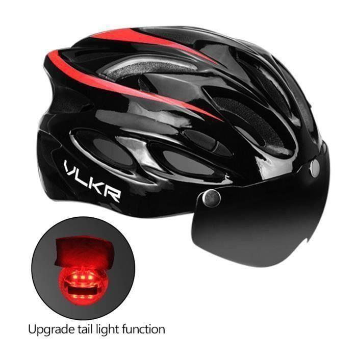 Casque de vélo de montagne ultraléger avec lunettes Équipement de cyclisme