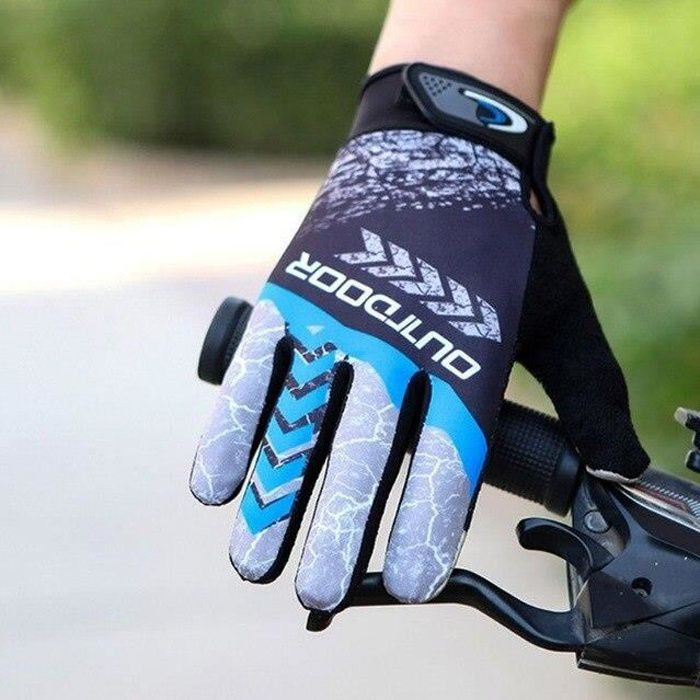 Gants,Gants Hiver VTT Vélo Gants de Vélo Haute Température Résistance VTT Antidérapantes Chaudes crème solaire En Plein - Type Bleu