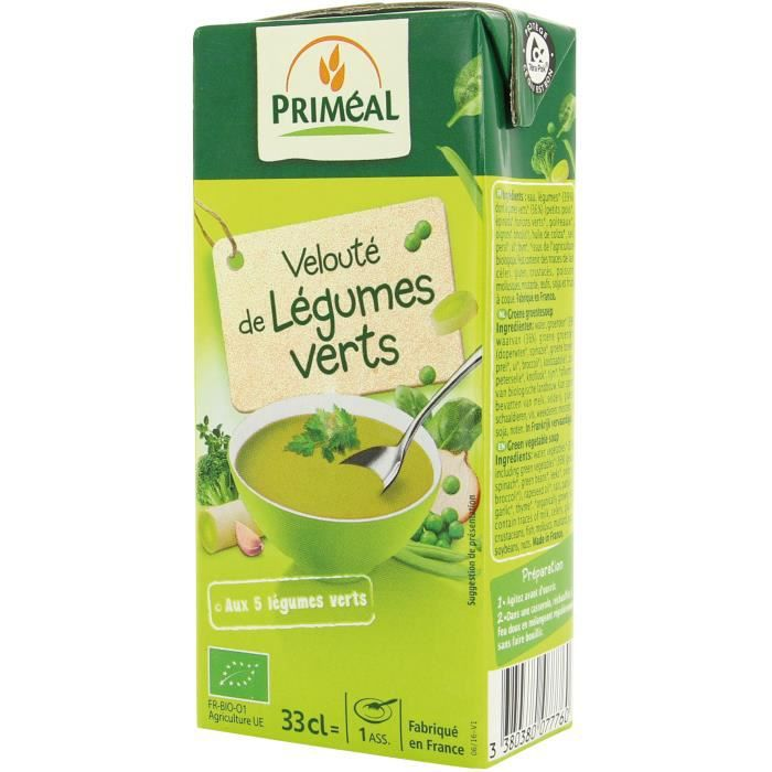 PRIMEAL - VELOUTE LEGUMES VERTS 33CL