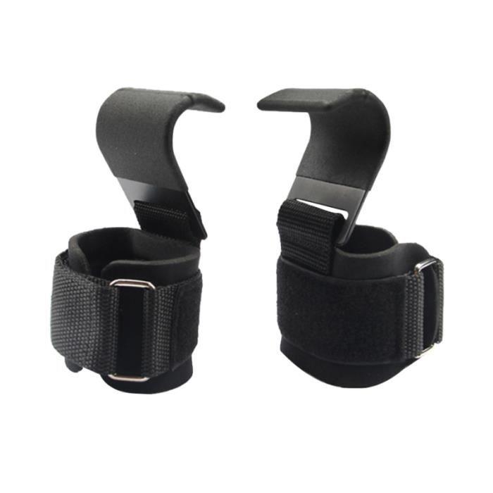 1 paire de crochet d'entraînement Support de poignet en fonte poignées de PACK PRODUITS DE FITNESS - PACK PRODUITS MUSCULATION
