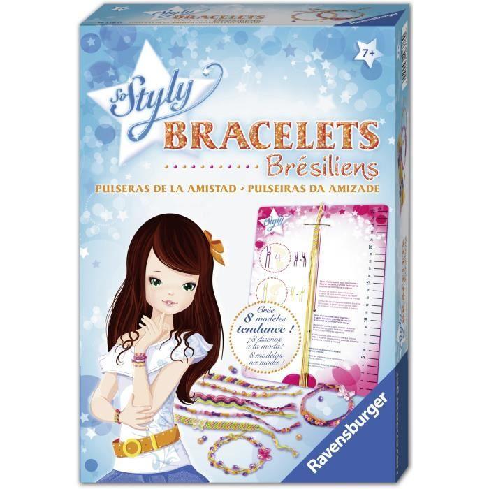 Bracelets brésiliens - Ravensburger - Loisir créatif enfant - Création d'accessoires de mode DIY - Dès 7 ans