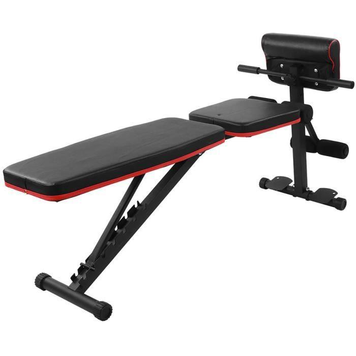 Sonew Banc d'entraînement Incline Decline 7 Banc abdominal à poids réglable LVL Banc d'haltères de fitness assis à la taille