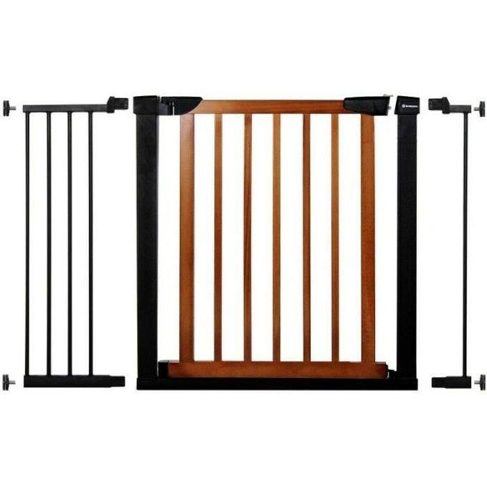 SPRINGOS® Barrière de Sécurité Bébé, Enfant pour Escaliers, Portes 75-117 cm