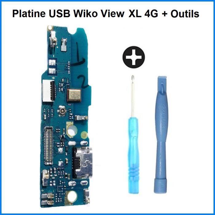 Connecteur de Charge USB Wiko View XL - 100% ORIGINAL + Outils
