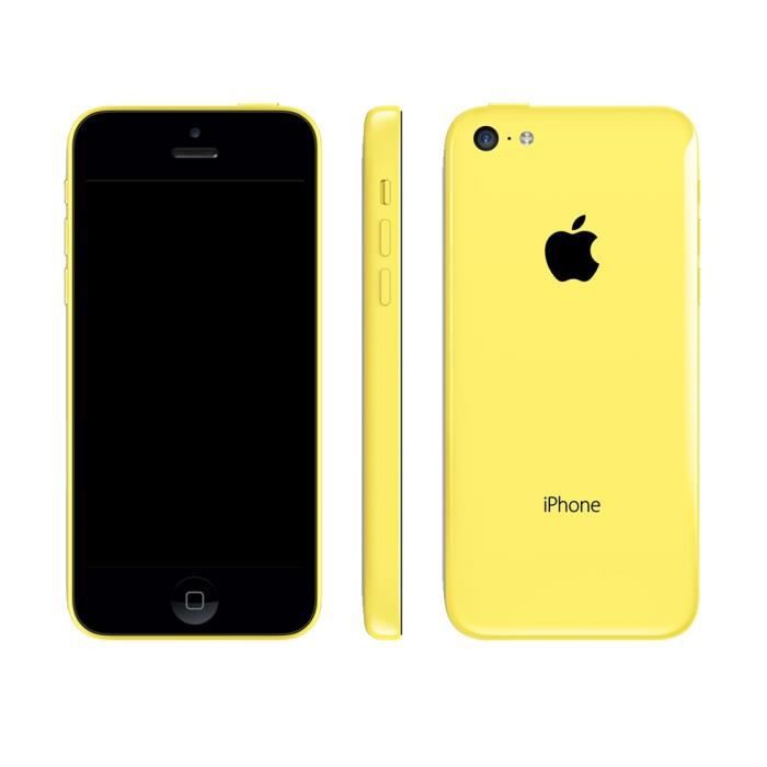 apple iphone 5c jaune achat smartphone pas cher avis et meilleur prix cdiscount. Black Bedroom Furniture Sets. Home Design Ideas