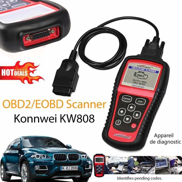 kw808 obdii obd2 appareil de diagnostic de voiture avec. Black Bedroom Furniture Sets. Home Design Ideas