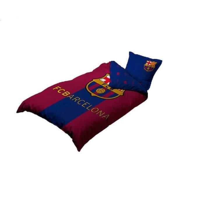 parure lit enfant housse de couette taie fc barcelone gar ons filles foot messi neymar logo fcb. Black Bedroom Furniture Sets. Home Design Ideas