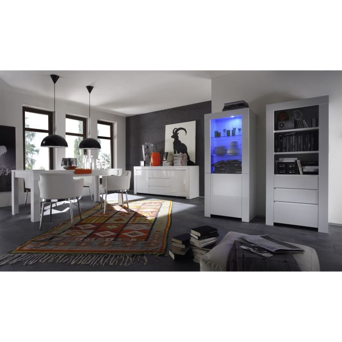 Salle manger compl te design boston 201 ave achat for Ameublement sejour complet