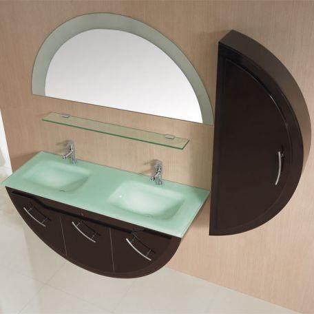 SDG947C Meuble salle de bain coloris chocolat - Achat ...