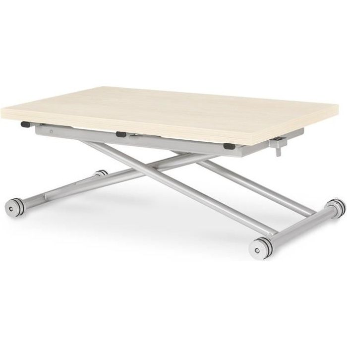 Table basse relevable blanc achat vente table basse for Table basse relevable pas cher