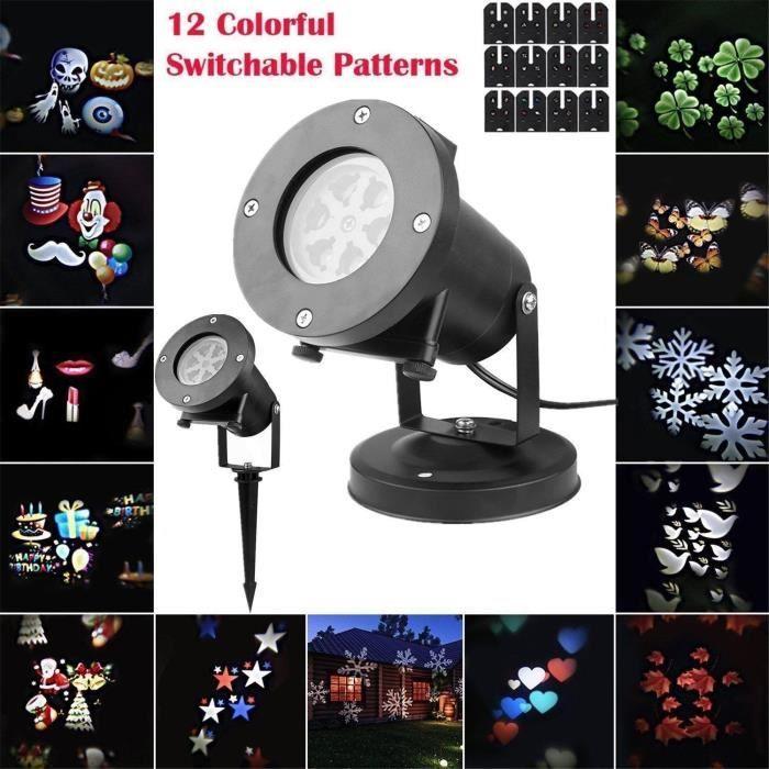 Noël Halloween lampe de projecteur de Noël DEL Stage Lumières DJ Stage lampe 2021