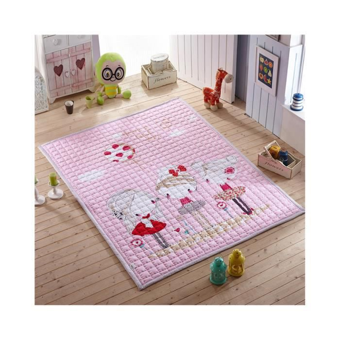 fille coton doux tapis de jeu pour b b activit gymnase grand pad ramper tapis de jeu. Black Bedroom Furniture Sets. Home Design Ideas