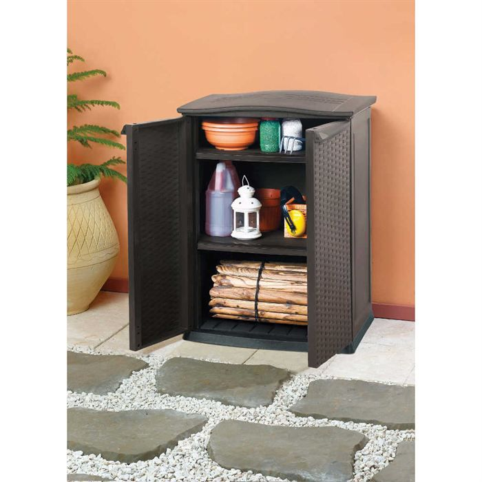armoire basse de jardin achat vente coffre d 39 ext rieur. Black Bedroom Furniture Sets. Home Design Ideas