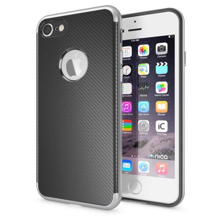 iphone 7 coque carbone de nica housse protection