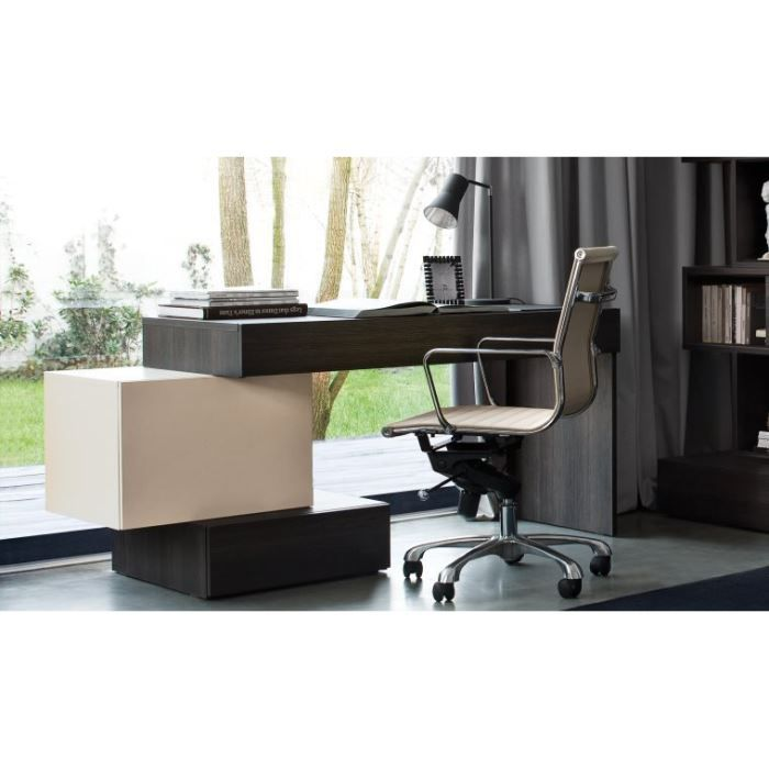 bureau design avec caisson de rangement hifi achat. Black Bedroom Furniture Sets. Home Design Ideas