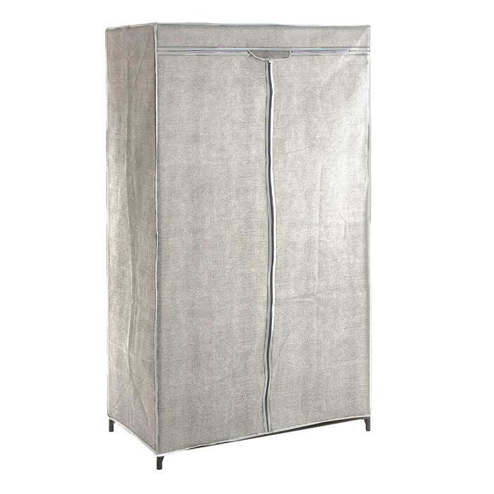 armoire de rangement penderie gris clair achat vente. Black Bedroom Furniture Sets. Home Design Ideas