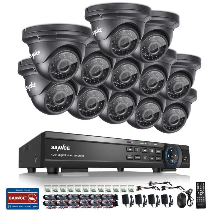 sannce kit vid o surveillance ext rieur16ch 1080p ahd dvr. Black Bedroom Furniture Sets. Home Design Ideas