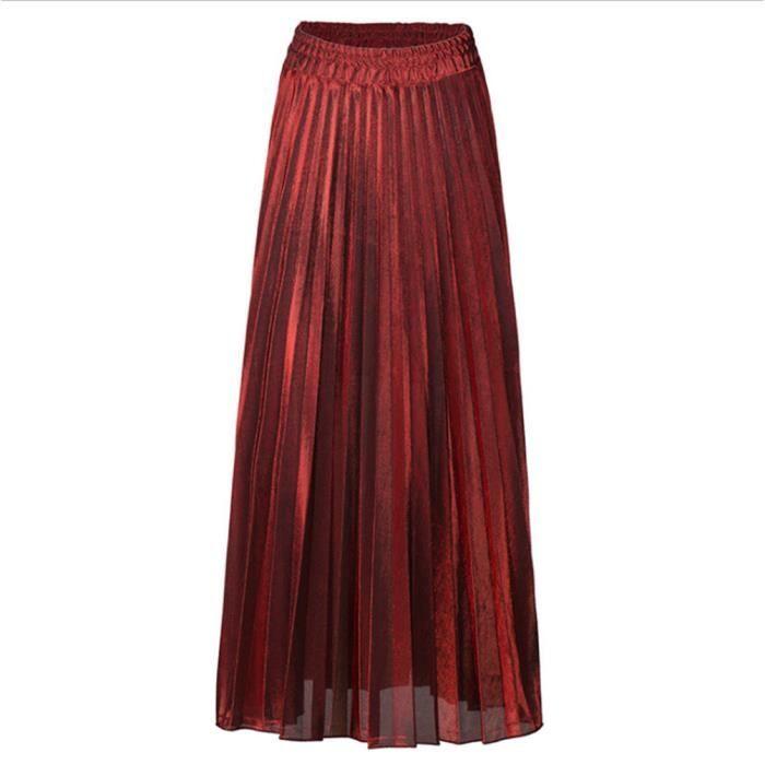 JUPE Jupe plissée Femmes Vintage jupe taille haute Jupe