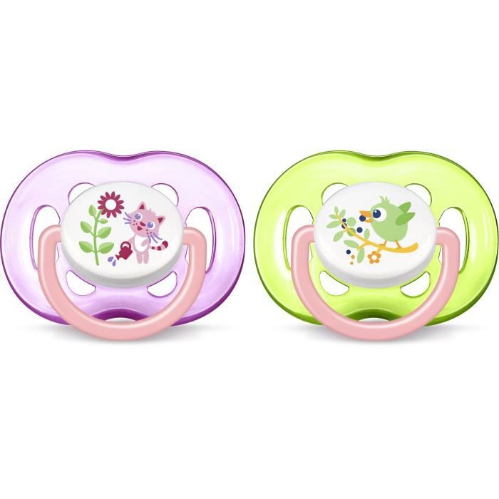 SUCETTE PHILIPS AVENT SCF186/25 Lot de 2 sucettes orthodon