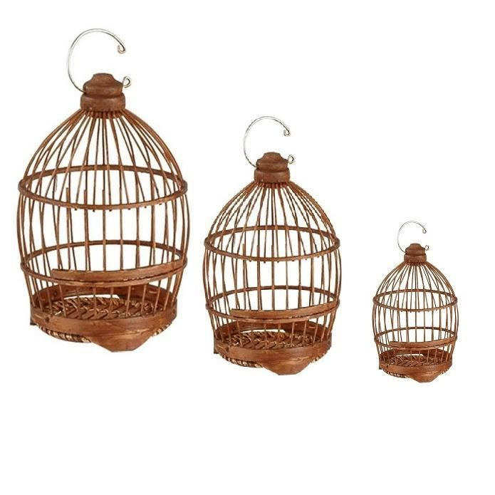 cage oiseaux en bambou x3 achat vente voli re cage oiseau cage oiseaux en bambou x. Black Bedroom Furniture Sets. Home Design Ideas