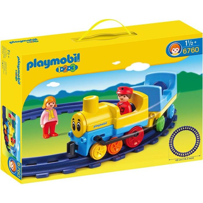 UNIVERS MINIATURE PLAYMOBIL 1.2.3. Train Avec Rails