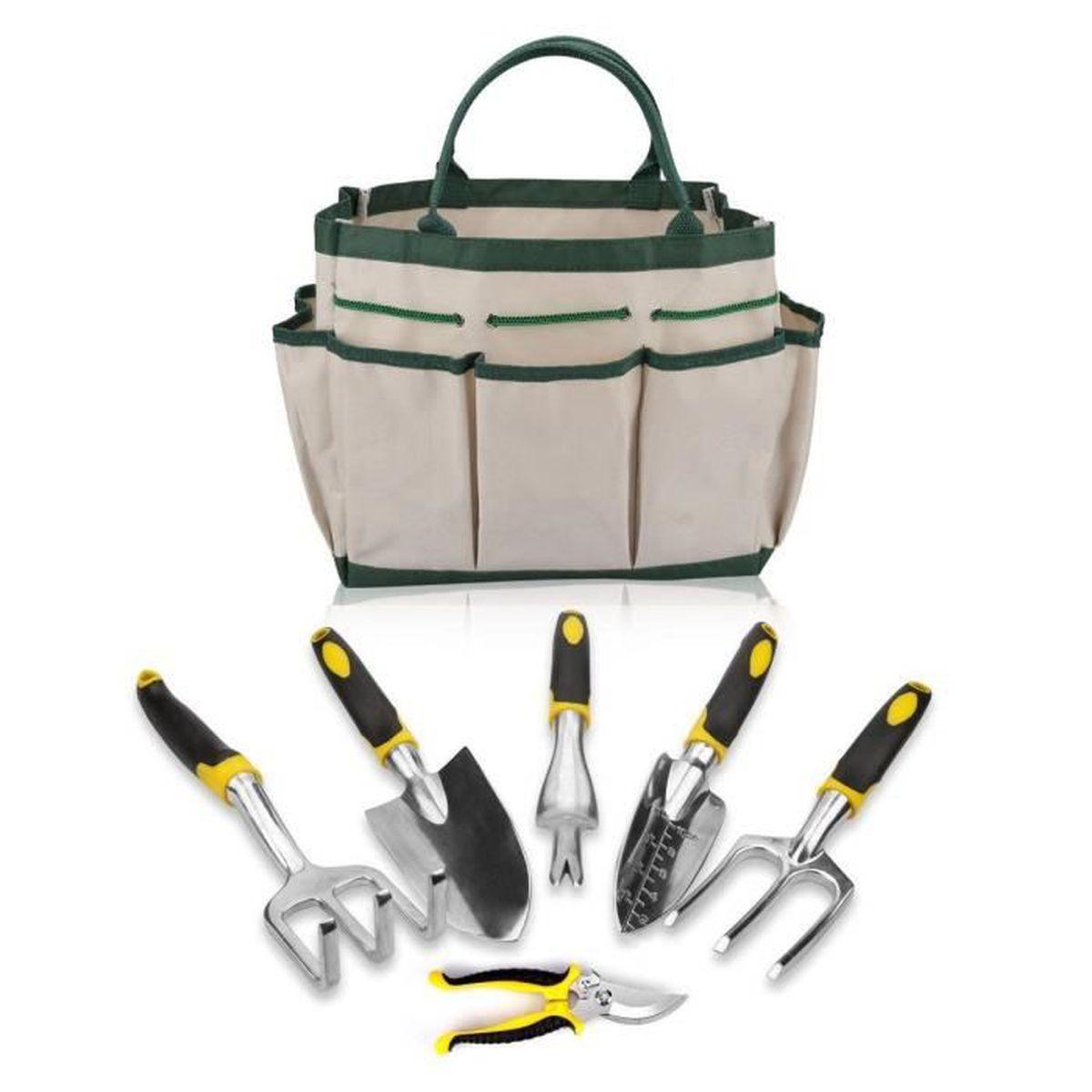 Les Outils De Jardinage Avec Photos epack ensemble de outil de jardin, lot de 7 pièces avec sac