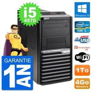 ORDI BUREAU RECONDITIONNÉ PC Tour Acer Veriton M4630G Intel i5-4570 RAM 4Go