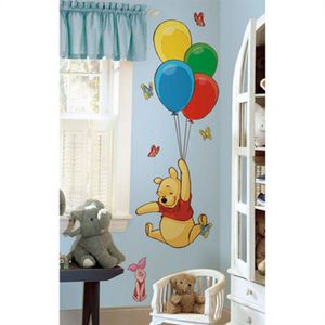 STICKERS Grands stickers Winnie l'Ourson & Porcinet Disney