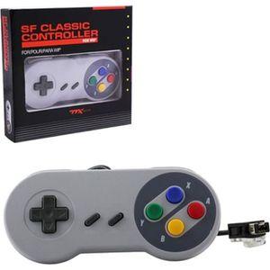 MANETTE JEUX VIDÉO Manette Pad Joystick Style Super Famicom SNES Pour