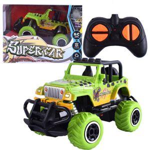 VOITURE ELECTRIQUE ENFANT 1-43 RC voiture télécommande 4 roues motrices Jeep
