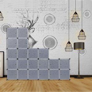 MEUBLE À CHAUSSURES 20 Cubes DIY Armoire à Chaussures Etagères Meuble