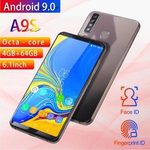 SMARTPHONE Noir Téléphone portable d'origine A9S Pro 6.1 pouc