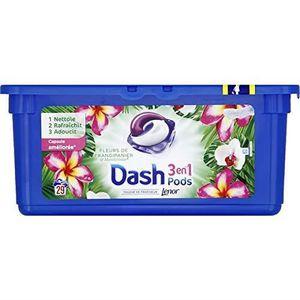 LESSIVE Dash pods lot de 2 x 29 capsules Frangipanier Mand
