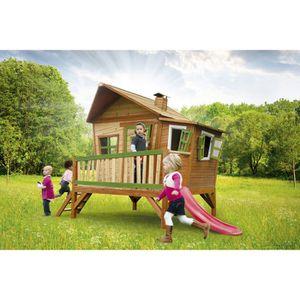 BALANÇOIRE - PORTIQUE AXI Maisonnette Enfant Cabane en bois Emma