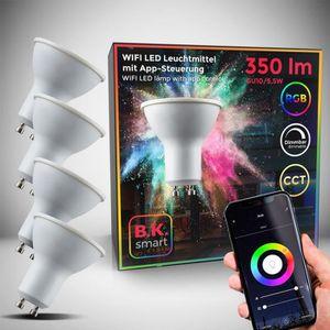 Lunettes connectées Lot de 4 ampoules LED connectées GU10 choix de cou