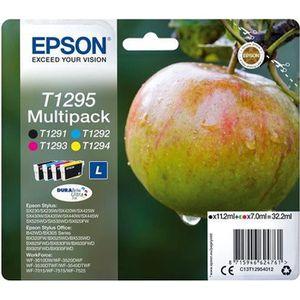 CARTOUCHE IMPRIMANTE EPSON Multipack T1295 - Pomme - Noir, Cyan, Magent