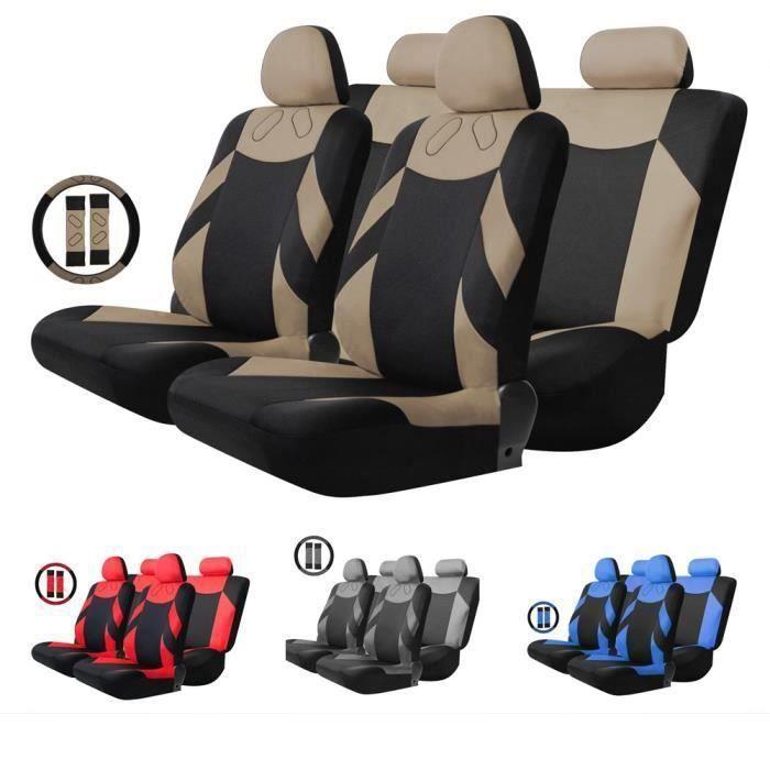 Housse de Siège Auto Universelle coussins pour Siège Voiture,Protecteur de siège,Couvre Siège voiture,Siège de housse de voiture XC4