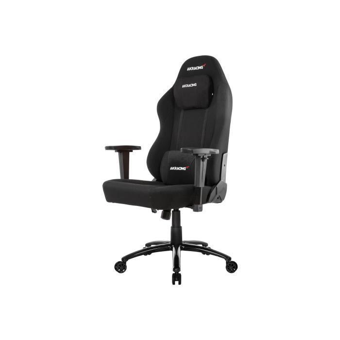 AKRACING Series Office OPAL - AKOPALBK - Siège Confort de bureau sobre et large en tissu respirant - Noir