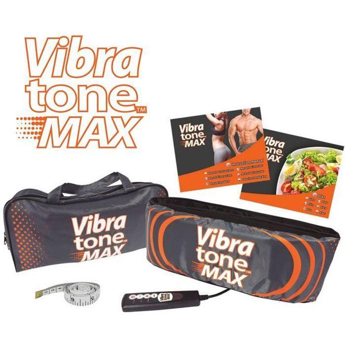 Vibratone Max – Ceinture Abdominale Vibrante – Tonifiez vos abdos, obliques, hanches, taille, fessiers et cuisses.