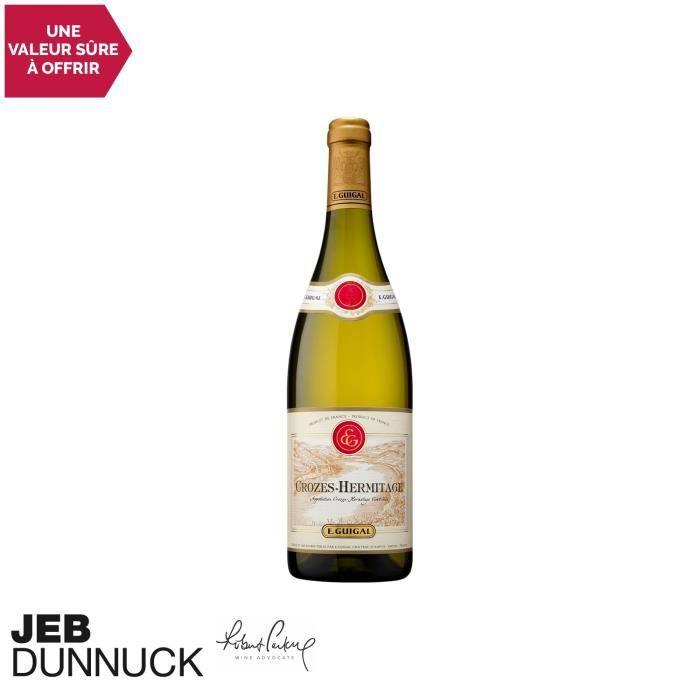 Crozes-Hermitage Blanc 2018 - 75cl - Maison Guigal - Vin AOC Blanc de la Vallée du Rhône - 89-100 Robert Parker - Cépages Marsanne,