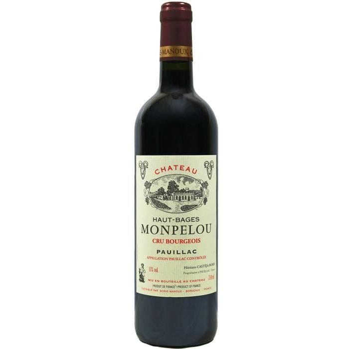 Château Haut-Bages Monpelou, Cru Bourgeois Pauillac (Bordeaux), 2014 - Vin Rouge