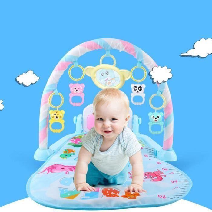 Bébé Tapis de jeu Piano jouet éducatif 810mmx560mmx450mm Bleu marine