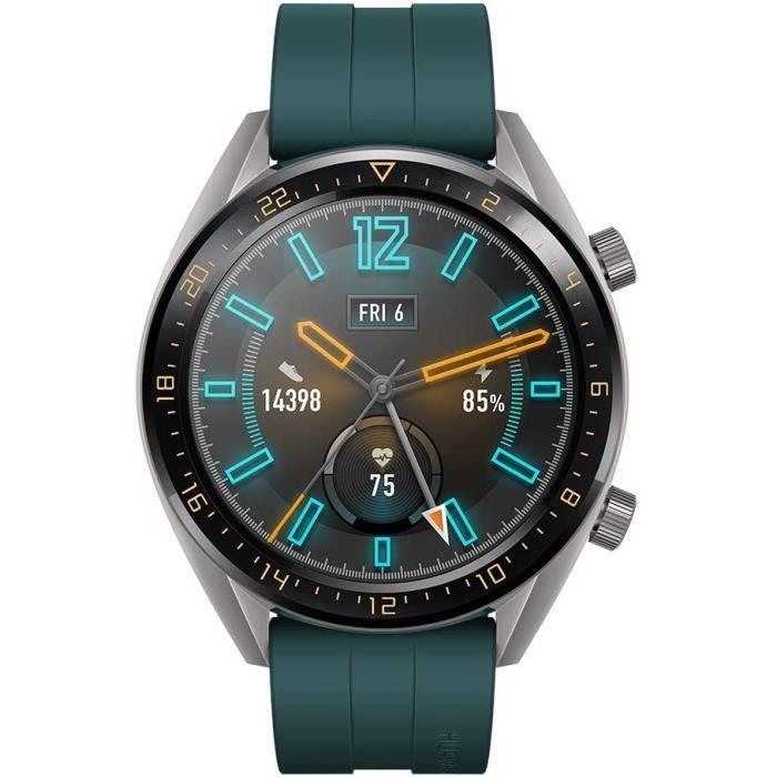Huawei Watch GT Active Montre Connectée (GPS, boîtier 46mm) avec Bracelet Sport Vert
