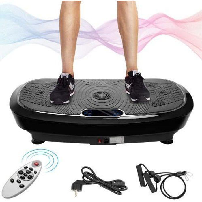 Plateforme vibrante oscillante -5 programmes + Musique Bluetooth,Pour Fitness Appareil d'Entraînement -RAI